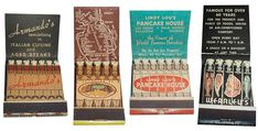 Collection of #Feature #matchbooks. To Order your Business' own branded #matchbooks GoTo: www.GetMatches.com or CALL 800.605.7331 TODAY!