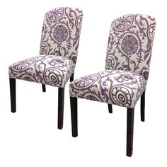 Passion Cotton Parson Chair (Set of 2)  sc 1 st  Pinterest & HomePop Coral and Turquoise Paisley Parson Chair (Set of 2 ...