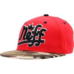 c03d9849005 Neff Brooks Red   Camo Snapback Hat