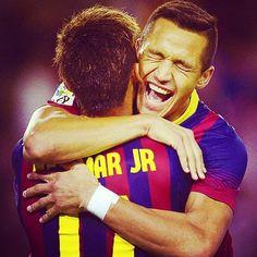 Alexis Sanchez and Neymar FC Barcelona Neymar Jr, Alexis Sanchez, Best Player, Psg, Fc Barcelona, Manchester United, Fifa, Madrid, Soccer