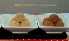 Bolitas de galletas y leche condensada