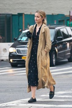 Dianna Agron wearing Alexander Wang Roxy Bag and Gucci Horsebit-Detailed Leather Loafers