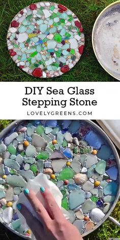 Diy Art Projects, Diy Garden Projects, Diy Garden Decor, Kids Garden Crafts, Garden Fun, Art Crafts, Mosaic Garden Art, Glass Garden Art, Garden Stepping Stones