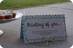 The Comfort of a Cupcake - Somewhat Simple. What a lovely way to nurture a friend or neighbour. #Nurture