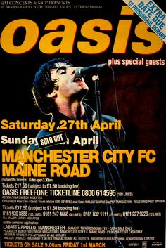 Noel Gallagher's High Flying Beady Eye in the oasis Punk Poster, New Poster, Poster Wall, Oasis Album, Oasis Live, Oasis Music, Metallica Art, Oasis Band, Poster