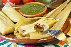 Healthy Tamales, a low fat healthier version of the Traditional Tamales. Recipe with a step by step photo instructions.
