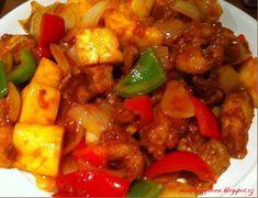 Sladko-kyselé vepřové maso Thing 1, Entrees, Good Food, Pork, Favorite Recipes, Fish, Meat, Cooking, Ethnic Recipes