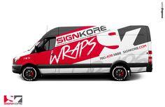 Like the angles, feels dynamic, good mix of colors. Like big logo overlay/interface with design. Van Signwriting, Sprinter Van, Van Signage, Coffee Van, Motorhome, Van Design, Van Wrap, Car Advertising, Sweet Cars