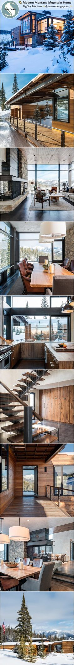 35 best blueprint homes images on pinterest house design exterior modern mountain home big sky montana malvernweather Image collections