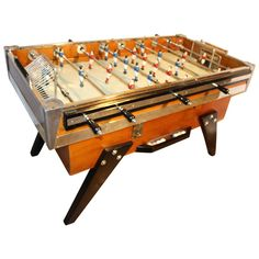Beautiful French 1950s Cafe's Foosball Table | From a unique collection of antique and modern game tables at https://www.1stdibs.com/furniture/tables/game-tables/