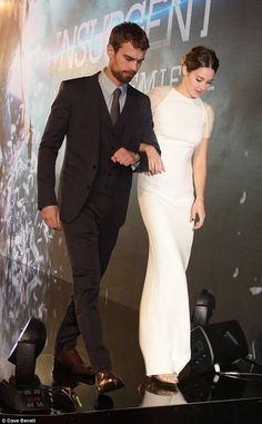 On-screen couple: The popular starlet was accompanied by her co-star Theo James, who plays...