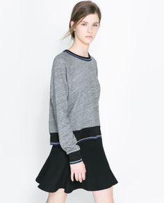 Image 1 of COTTON SWEATSHIRT from Zara