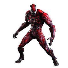Marvel Universe Venom Red Variant Play Arts Kai Action Figure
