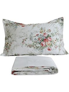 FADFAY Vintage Rose Floral Bed Sheet Set Cotton Bedsheet Twin Size ❤ FADFAY