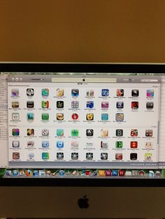 Some of the apps used for the iPads in the Learning Centre.
