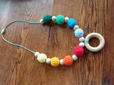 Easy Crochet Teething Necklace