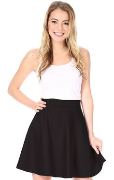 I absolutely love this blair skirt. It can be dressed up or down. I absolutely love it in black.It would be a perfect recruitment outfit