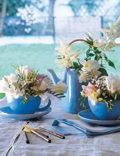 using-tableware-as-planters-and-vases-