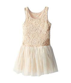 Pippa & Julie Sequined Embroidery Drop Waist Dress (Little Kids/Big Kids) Ivory - Zappos.com Free Shipping BOTH Ways
