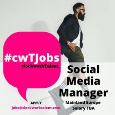 Social Media Manager to join a pioneering Global Sports Apparel Brand based in Mainland #Europe.   This role will focus on just one of their portfolio of supreme brands; a collaboration between authentic sports clothing design and #fashion which has been established for more than a decade.   To apply, click here: http://www.clockworktalent.com/digital-marketing-jobs/view/social-media-manager-mainland-europe