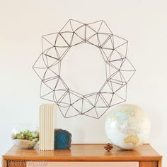 Modern Geometric Wreath vintagerevivals.com. Bigger than the last one and comes with a comprehensive video.