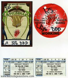 Rolling Stones 2006 Bigger Bang Tour Backstage Passes & Tickets - Store - Backstage Auctions, Inc.