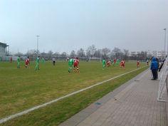 Und noch ein Nebenplatz am VfL-Stadion, Wolfsburg; u.a. beim Testspiel der Wolfsburger Amateure gegen den TSV Havelse am 16. Februar 2013