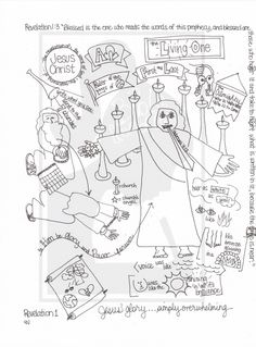 Bible Doodle Study Packet for Revelation 1-3- Christ and the Churches by BibleDoodles on Etsy