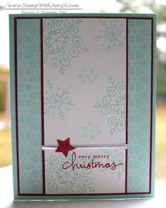 Stampin' Up!, Endless Wishes, Mailable Cards, Christmas Homemade Christmas Cards, Christmas Cards To Make, Xmas Cards, Homemade Cards, Christmas Wishes, Christmas Treats, Holiday Cards, Merry Christmas, Greeting Cards