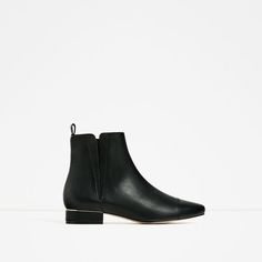 ZARA - WOMAN - FLAT STRETCH ANKLE BOOTS