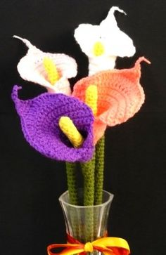 Calla lily crochet pattern $4.00 - could make for a great colorful keepsake