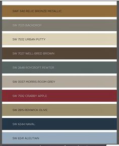 2016 Paint Color Forecast from Sherwin Williams. Four groups of colors.