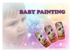 Nail art color gel. Baby face Baby Painting, Nail Art, Nails, Face, Color, Faces, Finger Nails, Ongles, Colour