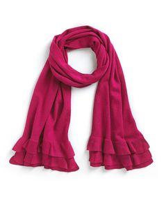 Cashmere Scarf in Fuchsia. #cashmere #scarf #fashion #silk