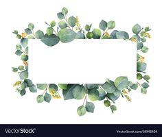 Watercolor vector wreath with green eucalyptus leaves and branches. royalty-free watercolor vector wreath with green eucalyptus leaves and branches stock vector art & more images of art Wreath Watercolor, Green Watercolor, Watercolor Flowers, Watercolor Paintings, Branch Vector, Eucalyptus Leaves, Illustration, Flower Frame, Free Vector Art