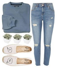 So Simple by jackandalice on Polyvore featuring River Island, Soludos, Abigail Ahern and simpleandstylish