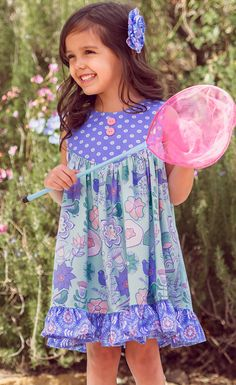 An enchanting mix of charming colors and and periwinkle prints!