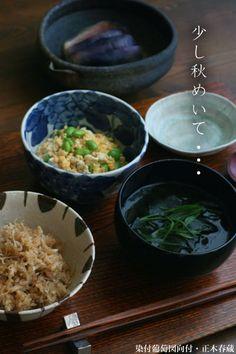 【一汁一菜】お味噌汁中心の食事:わかめ、葱