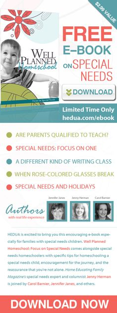 FREE for a limited time--#specialneeds #homeschool ebook!