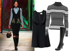 9Ways to Style a Turtleneck for Fall - With a Plunging Neckline  - from InStyle.com
