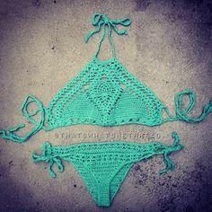 Crochet bikini crochet halter bikini top by thatswhatshethreadX