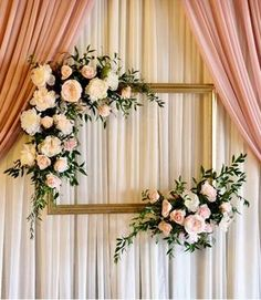 Try something special with these dusty rose wedding ceremony backdrop with blush. Try something special with these dusty rose wedding ceremony backdrop with blush and white flowers, spring weddings, sum. Stage Decorations, Bridal Shower Decorations, Diy Wedding Decorations, Wedding Centerpieces, Decor Photobooth, Outdoor Bridal Showers, Dusty Rose Wedding, Wedding Ceremony Backdrop, Wedding Backdrops