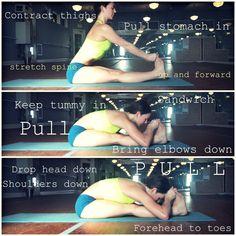 Tips for Stretching pose, paschimottanasana #yoga