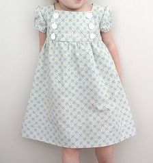 This dress is so cute! And the pattern is free. I have some really pretty fabric with butterflies on it. Can't wait to see how it turns out!