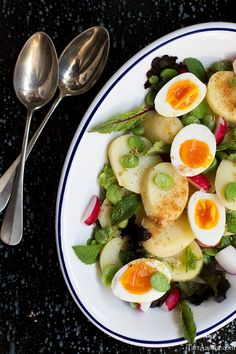 Insalata di patate novelle e fave fresche - Guest post by Gelmina #TartAmour blog - Potatoes salad with fresh broad beans guest post recipe on OPSD blog