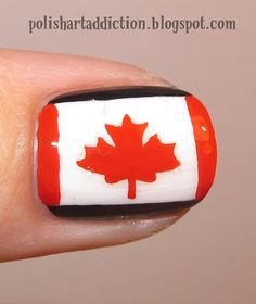 Canadian Flag Canadian Culture, I Am Canadian, Flag Nails, Canada Day, Nail Care, Hair And Nails, Flags, Nail Designs, Makeup