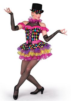 14245 - Mad World #dancecostume #recitalcostume #circustheme