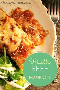 Want all the lasagna flavor without lasagna effort? Try this beef and ricotta stuffed manicotti topped with home made pasta sauce and melted mozzarella.