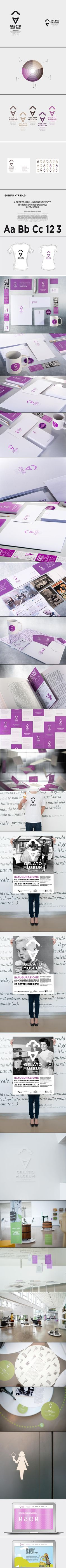 Gelato Museum | #stationary #corporate #design #corporatedesign #identity #branding #marketing < repinned by www.BlickeDeeler.de | Take a look at www.LogoGestaltung-Hamburg.de