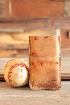 Recycled Baseball Glove iPhone Wallet on Etsy, $60.00